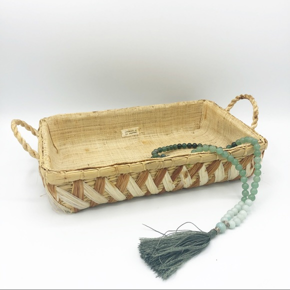 Vintage Other - Woven Basket Tray  • Made in the Philippines